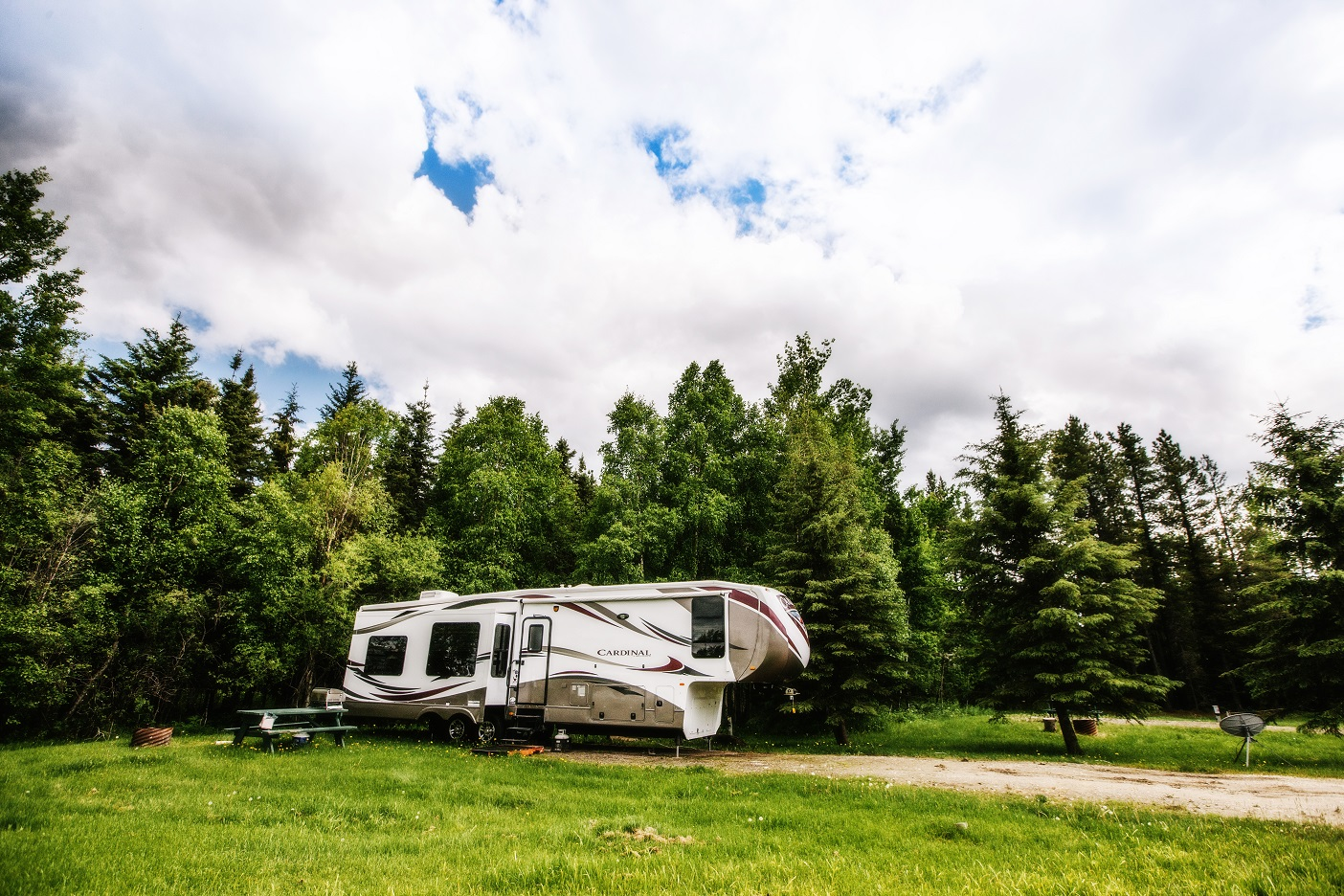 Campgrounds town of fox creek for Camping grounds with cabins