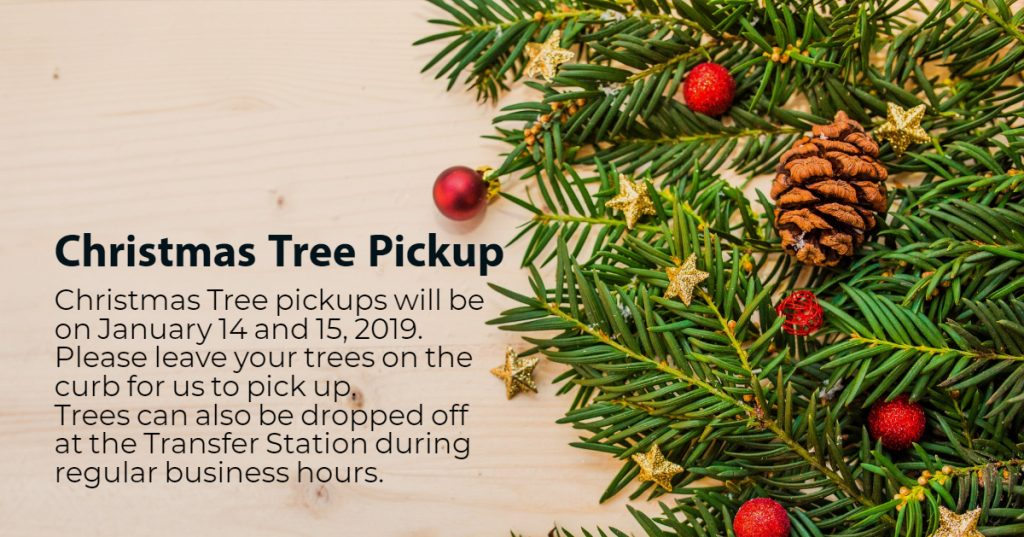 Town of Fox Creek Christmas Tree Pick-Up Jan 14 and 15