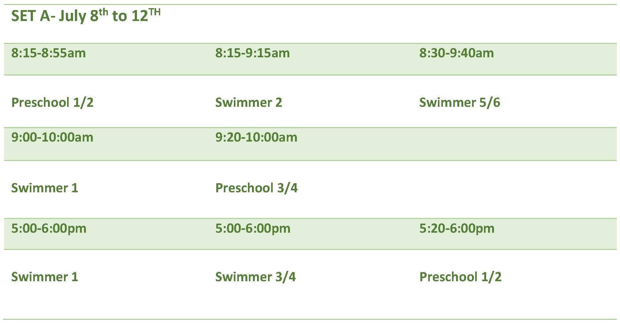 FCGM Swim Lessons Set A