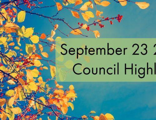 Council Highlights: September 23, 2019