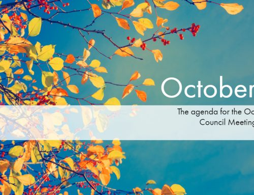 The October 15th Council Meeting Agenda is uploaded