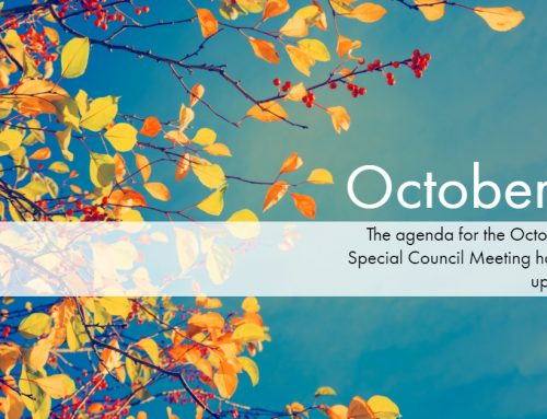 The October 3rd Special Council Meeting Agenda is uploaded