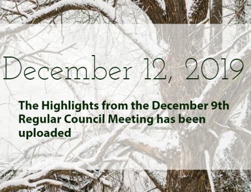 Council Highlights: December 9, 2019