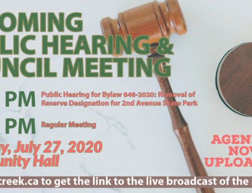The July 27th Public Hearing & Regular Council Meeting Agendas are now uploaded