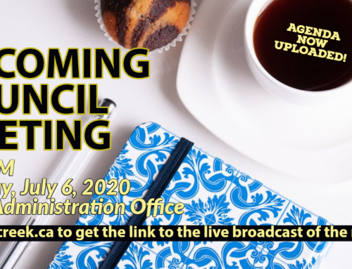 The July 6th Regular Council Meeting Agenda is now uploaded