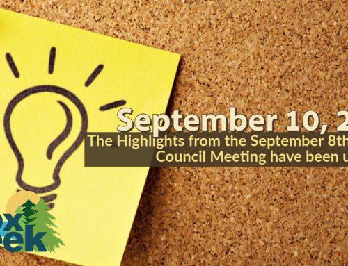 Council Highlights: September 8, 2020