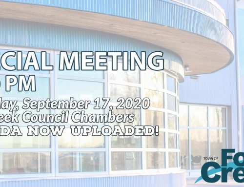 The September 17th Special Council Meeting Agenda is now uploaded