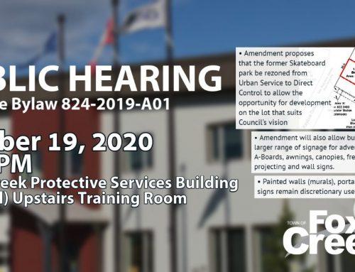 Public Hearing: Land Use Bylaw Amendment 824-2019-A01