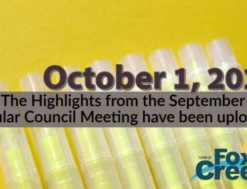 Council Highlights: September 28, 2020