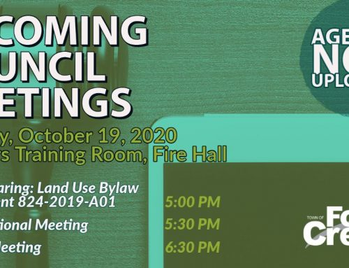 The October 19th Council Meeting Agendas are now uploaded