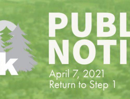 Public Notice: Return to Step 1