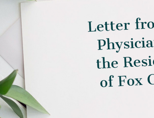Letter From the Physicians of Fox Creek